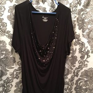 Black top with sequined front